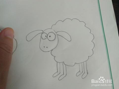 如何画简笔画小羊肖恩