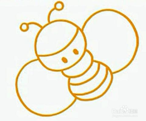 怎么画小蜜蜂 简笔画 7