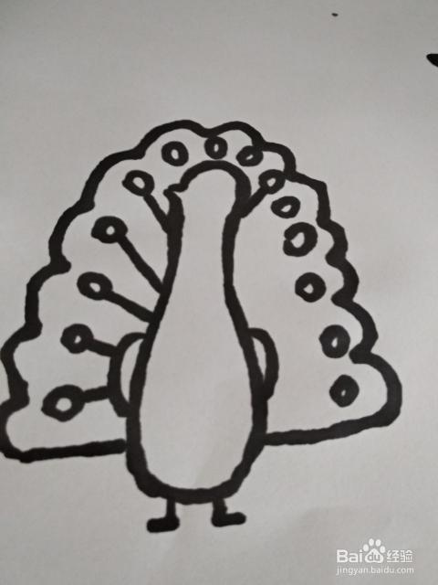 孔雀的简笔画怎么画