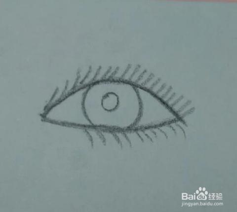 眼睛的简笔画教程
