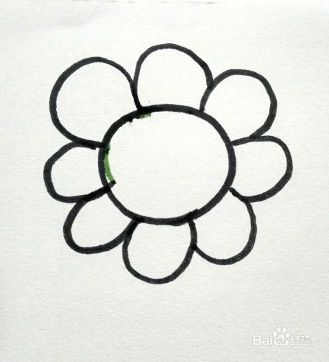 画向日葵 儿童简笔画向日葵的画法