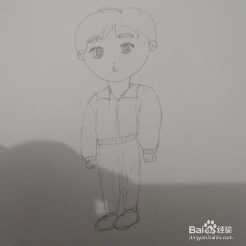 简笔画25 q版足球男孩画法