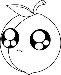 教你怎么画桃子简笔画 ,超简单,一学就会哦