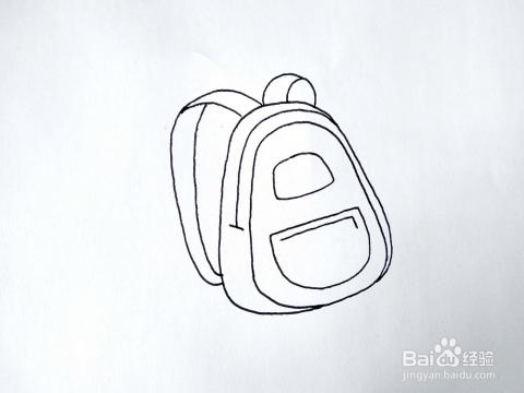 如何画一只卡通儿童书包简笔画 背包简笔画教程