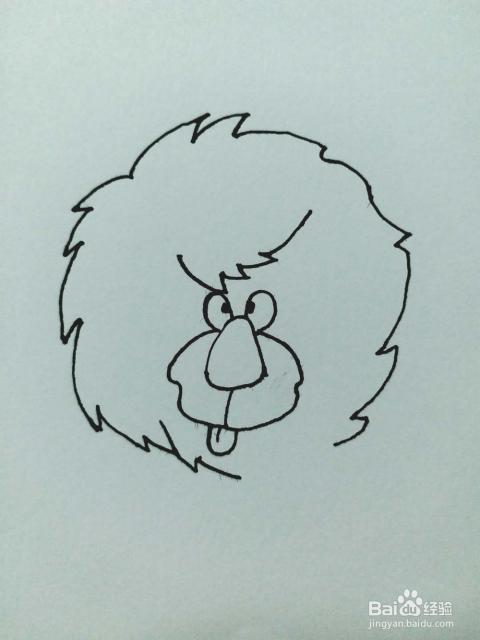 狮子的简笔画法1