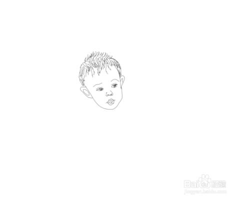 简笔画爬行的小宝宝是怎么画的