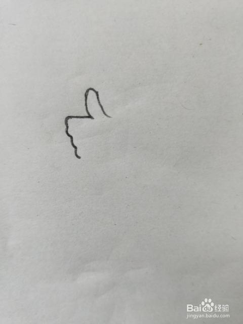 大拇指的简笔画教程