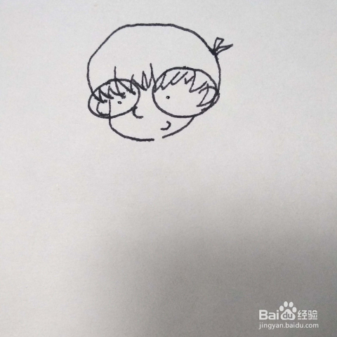 怎么画一个可爱的卡通动漫人物小女孩简笔画教程