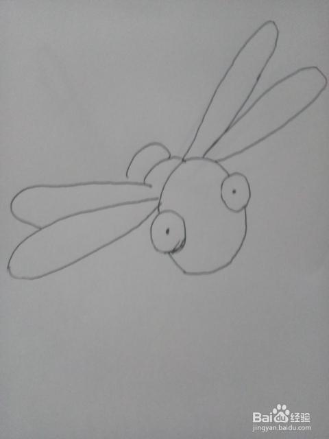 小蜻蜓 简笔画教程