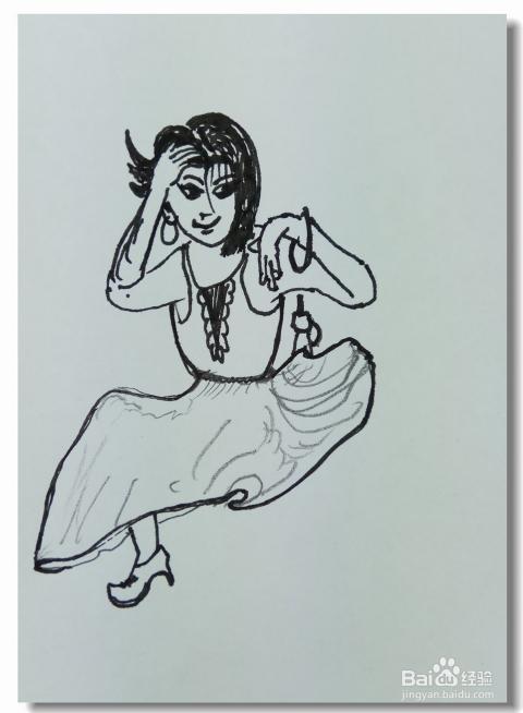 怎样画简笔画 舞起来