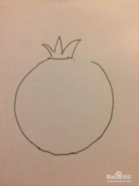 儿童简笔画石榴的画法
