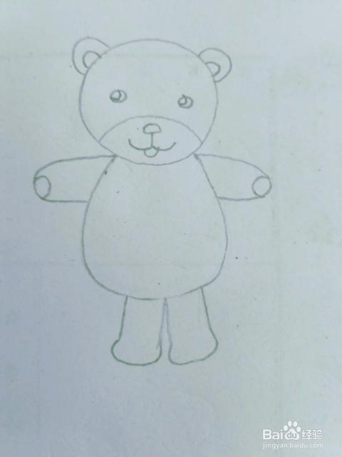 适合宝宝的简笔画小动物小熊的画法