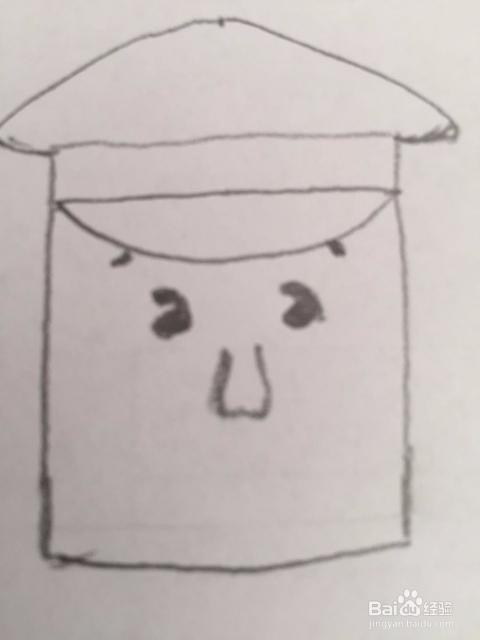 简笔画警察叔叔的画法
