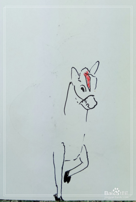 怎样画简笔画 唐僧骑马