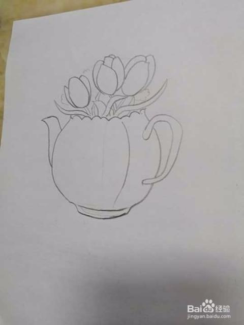 花瓶简笔画怎么画