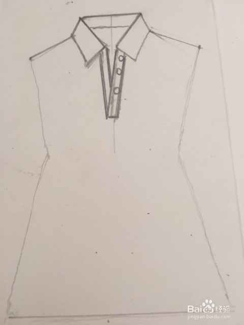 怎样画儿童体恤衫的简笔画