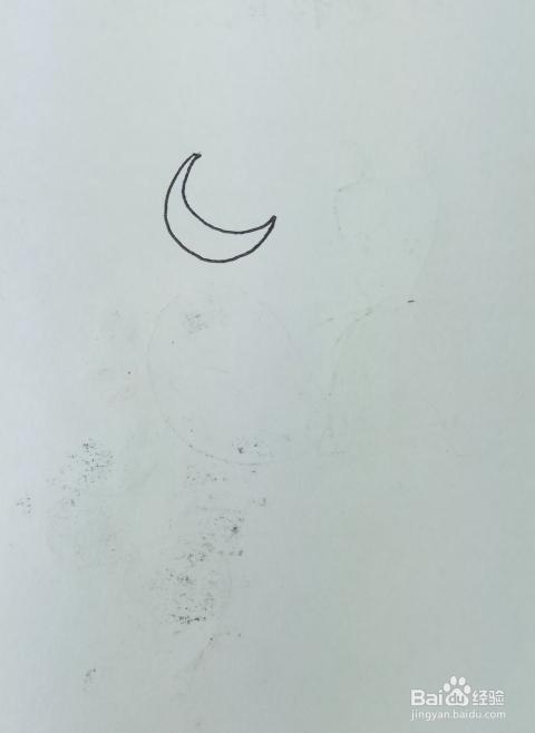 怎样画简笔画 月光下的风景