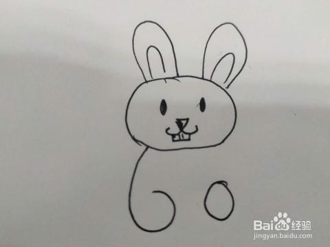 抱着胡萝卜的小白兔怎么画 小白兔简笔画教程