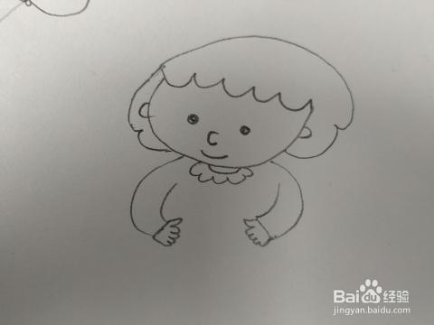 吃饭的小女孩简笔画怎么画,怎么画吃饭女孩卡通