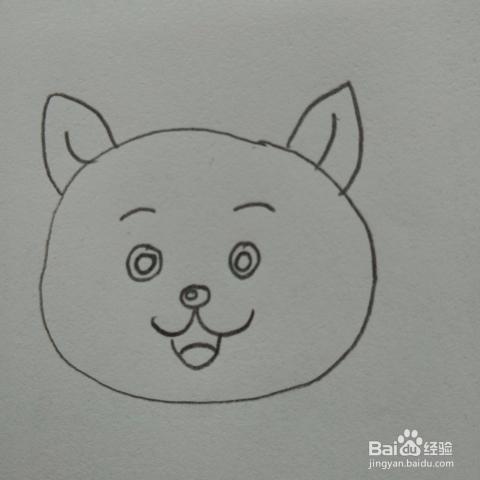 可爱的小花猫幼儿简笔画