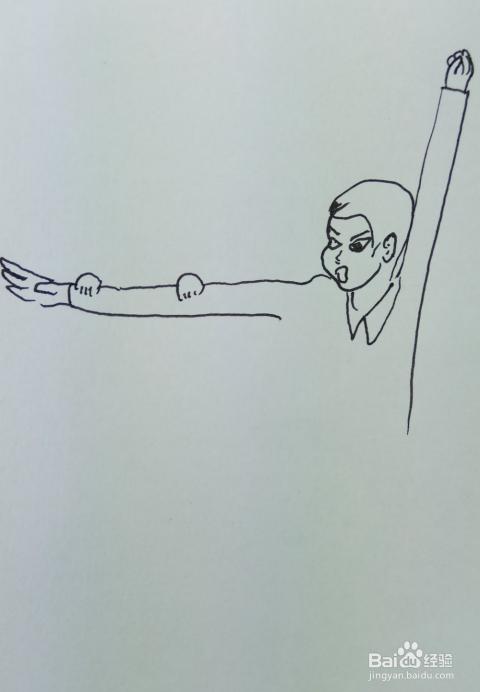 怎样画儿童简笔画 手臂单杠
