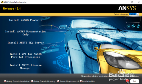 ANSYS Proucts 18.1安装激活教程