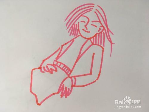 怎样画出高跟鞋女孩的简笔画