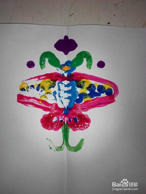 儿童画 水粉压印画