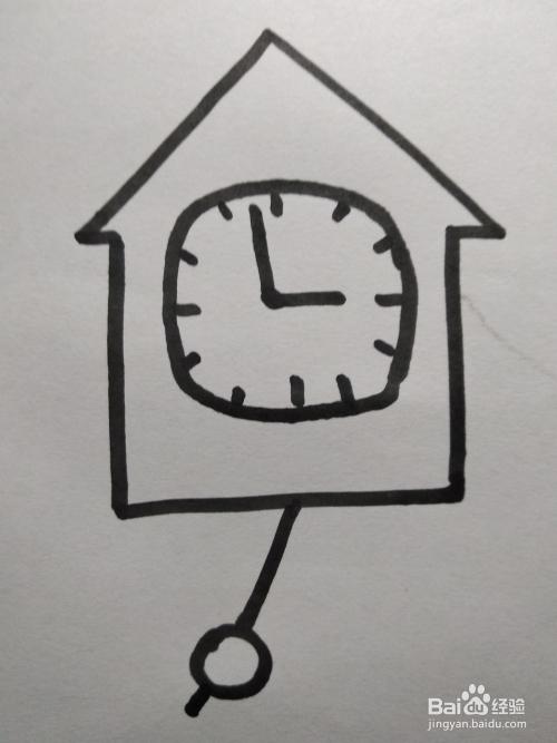 闹钟的简笔画怎么画