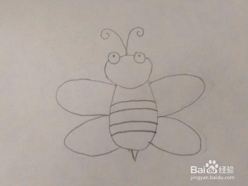 可爱的小蜜蜂简笔画