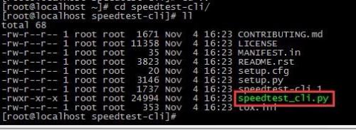 linux服务器上测试网速
