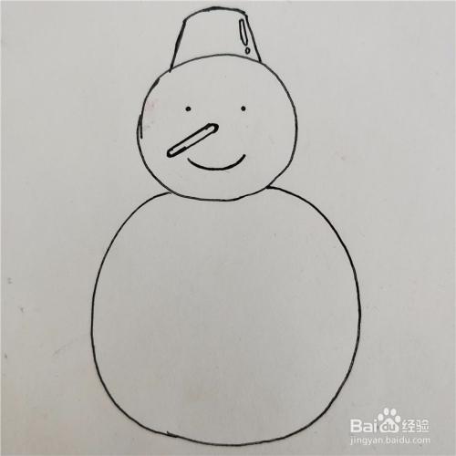 小雪人简笔画