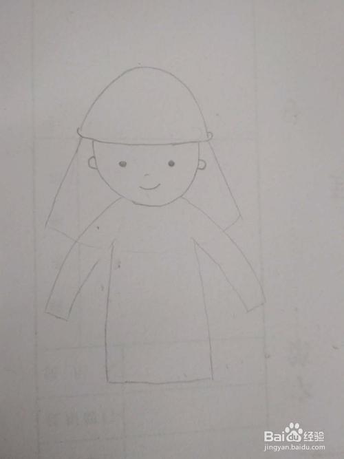 多妈简笔画人物一位消防员叔叔