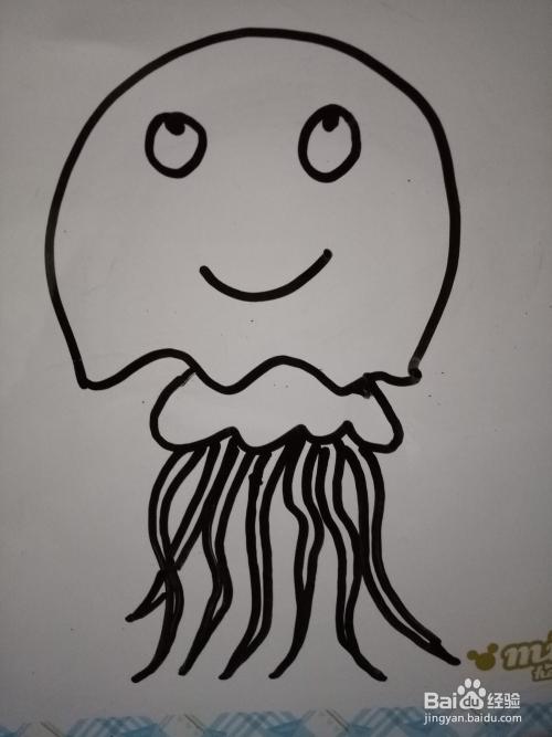 简笔画可爱的水母
