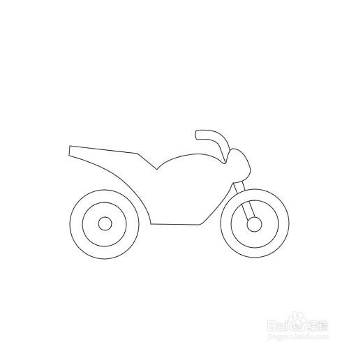 如何画摩托车简笔画