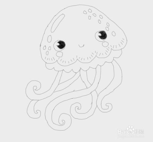 简笔画水母是怎么画的