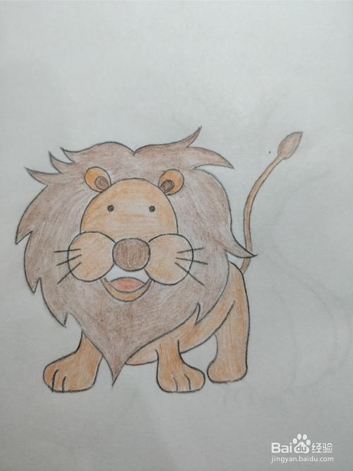 简笔画画狮子