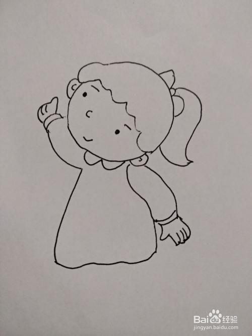 抖音热门小女孩简笔画步骤
