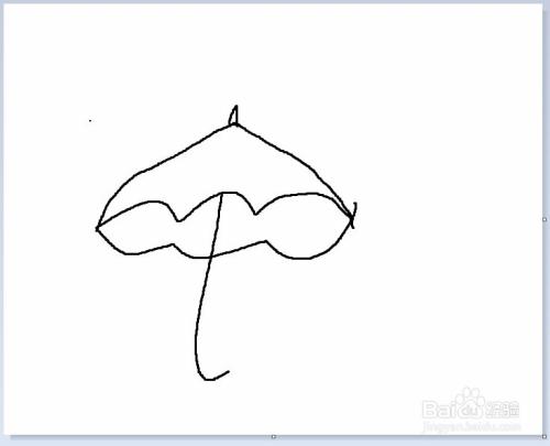 简笔画之小雨伞