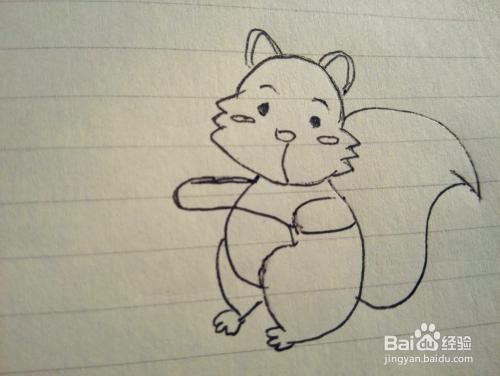 小松鼠简笔画的画法