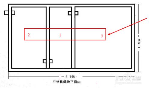 三格化粪池的结构尺寸