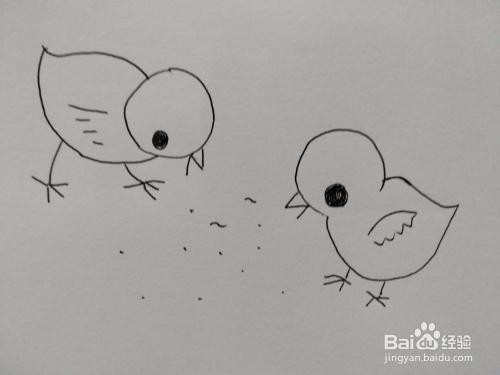 抖音可爱小鸡宝宝的简笔画法