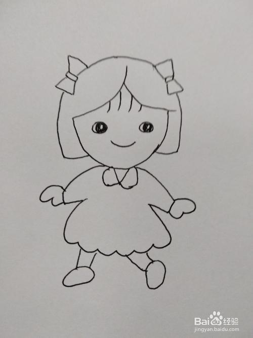 抖音可爱女生简笔画方法