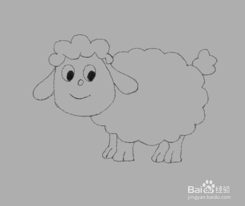 简笔画绵羊是怎么画的