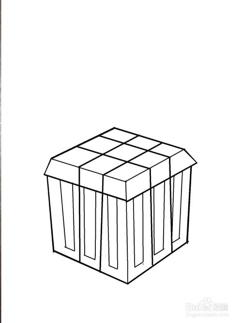吃鸡游戏中空投箱的简笔画法