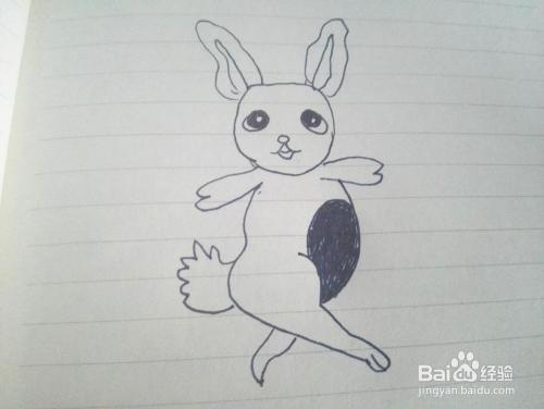 简笔画之跳舞的小白兔