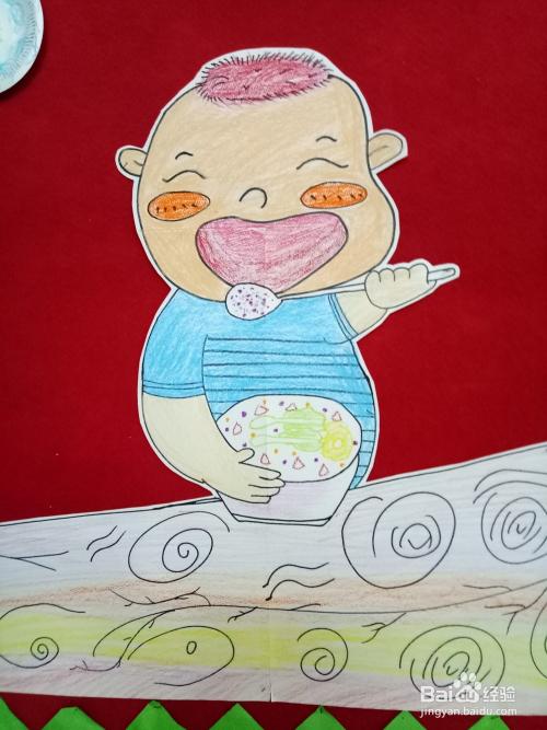如何画出娃娃吃饭的简笔画
