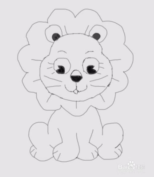 儿童简笔画小狮子是怎么画的