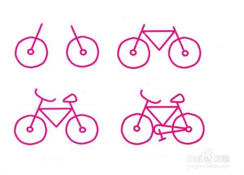 自行车简笔画图片 儿童骑自行车简笔画大全