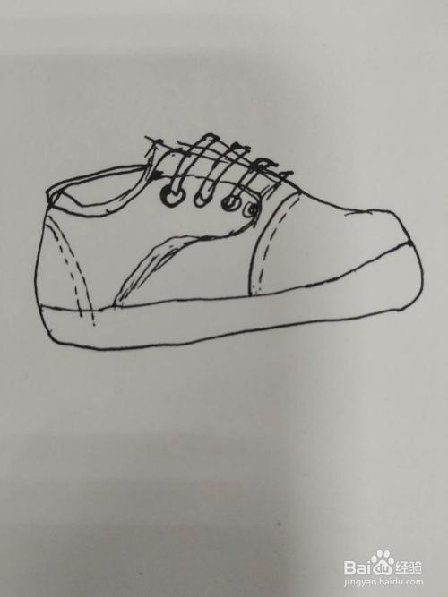 鞋子简笔画怎么画,怎么画运动鞋简笔画